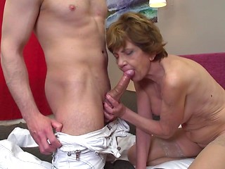 Mature woman sex young man